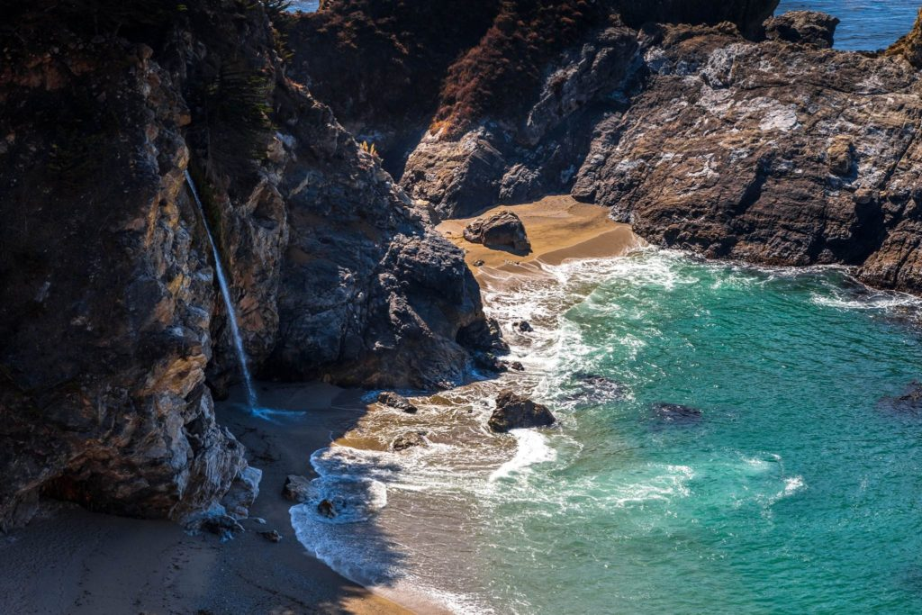 California: Big Sur, Highway 1. Julia Pfeiffer Burns State Park,