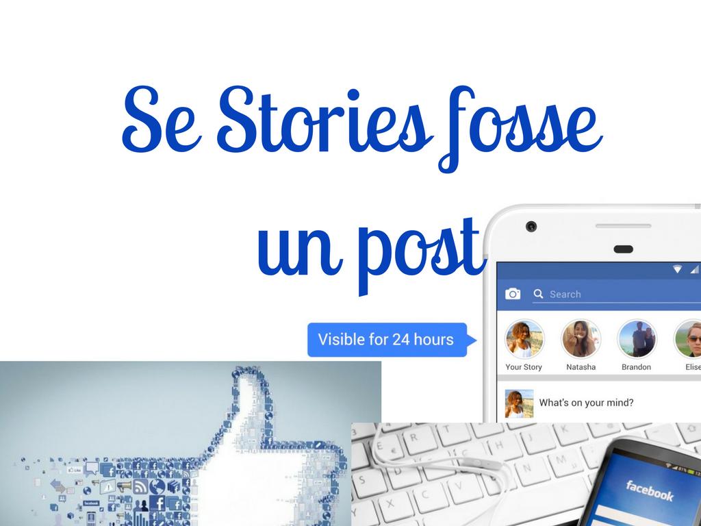 Se Stories fosse un post