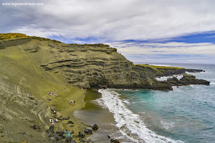 Papakōlea Green Sand Beach – Spiaggia Verde – Big Island -Hawai'i: le spiagge colorate, dove trovarle e informazioni utili Credits: bigislandhikes.com